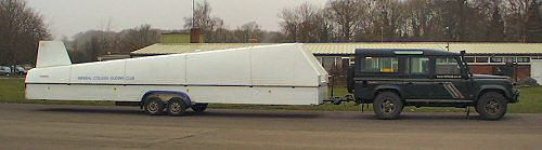 Can you legally tow a trailer like this with your 4x4? The 4x4web 110 and a glider trailer.